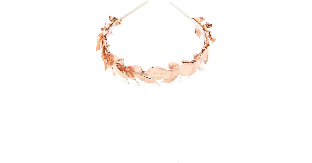 Lyst - Eugenia Kim Lys Headband - Rose Gold in Pink 0620d8ead76