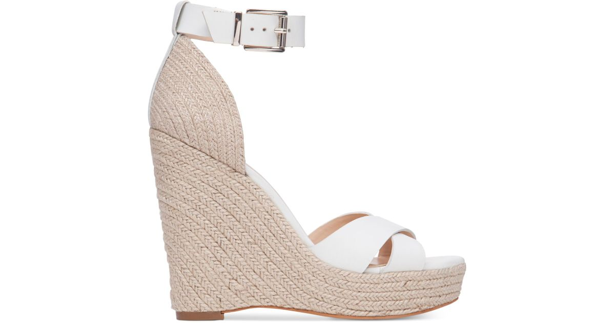 d1aefdce90c Lyst - Vince Camuto Maurita Platform Espadrille Wedge Sandals in Natural
