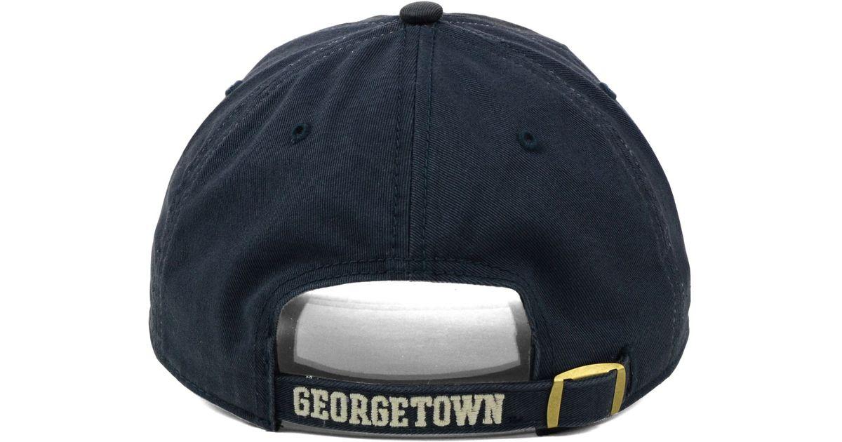 0d1cf9e2299bb7 ... buy 47 brand gray georgetown hoyas clean up cap for men lyst 6e400 c10f8