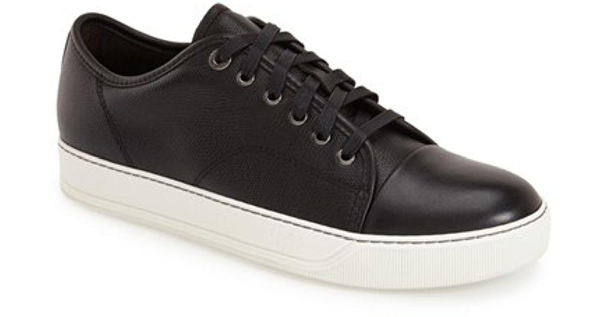f6598664f61 Lyst - Lanvin  shiny  Cap Toe Sneaker in Black for Men