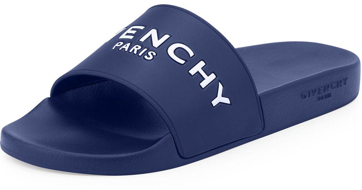 Lyst - Givenchy Pool Slide Sandals in Blue for Men 88ec14e16