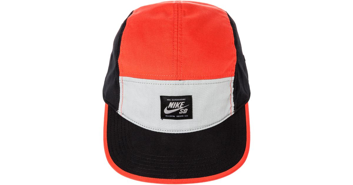 3217d47b2e7 closeout nike sb reversible 5 panel cap gym red white consortium. 6df37  aacf3  france lyst nike the blocked 5 panel hat in red for men 717f4 7a709