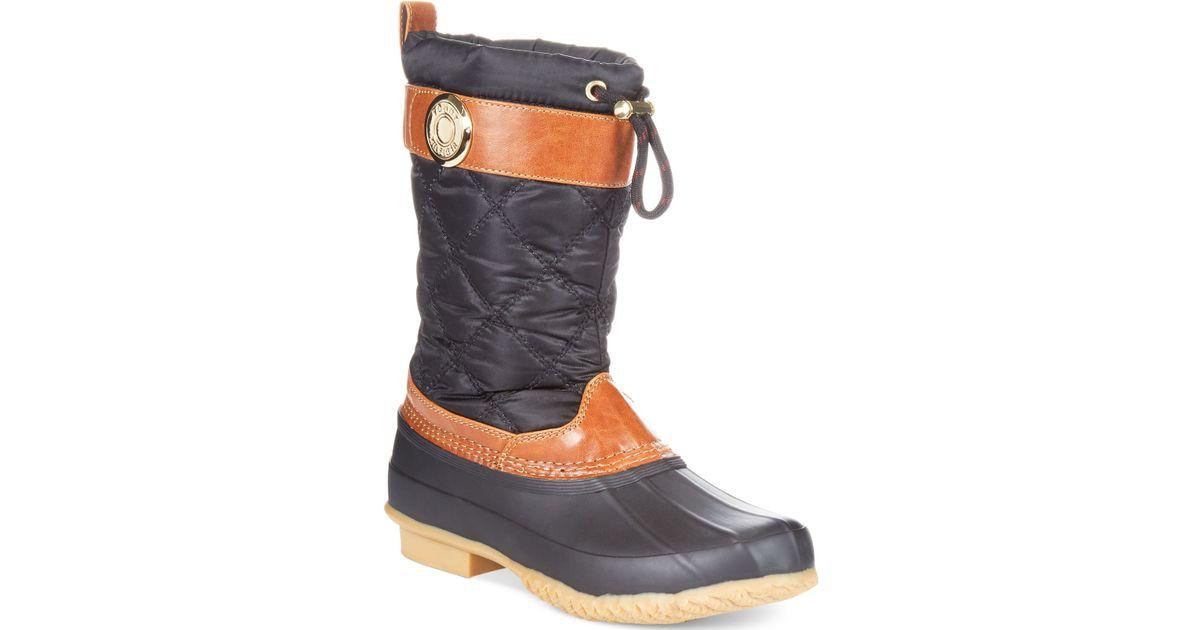 b12a478504366d Tommy Hilfiger - Black Women s Arcadia Duck Boots - Lyst