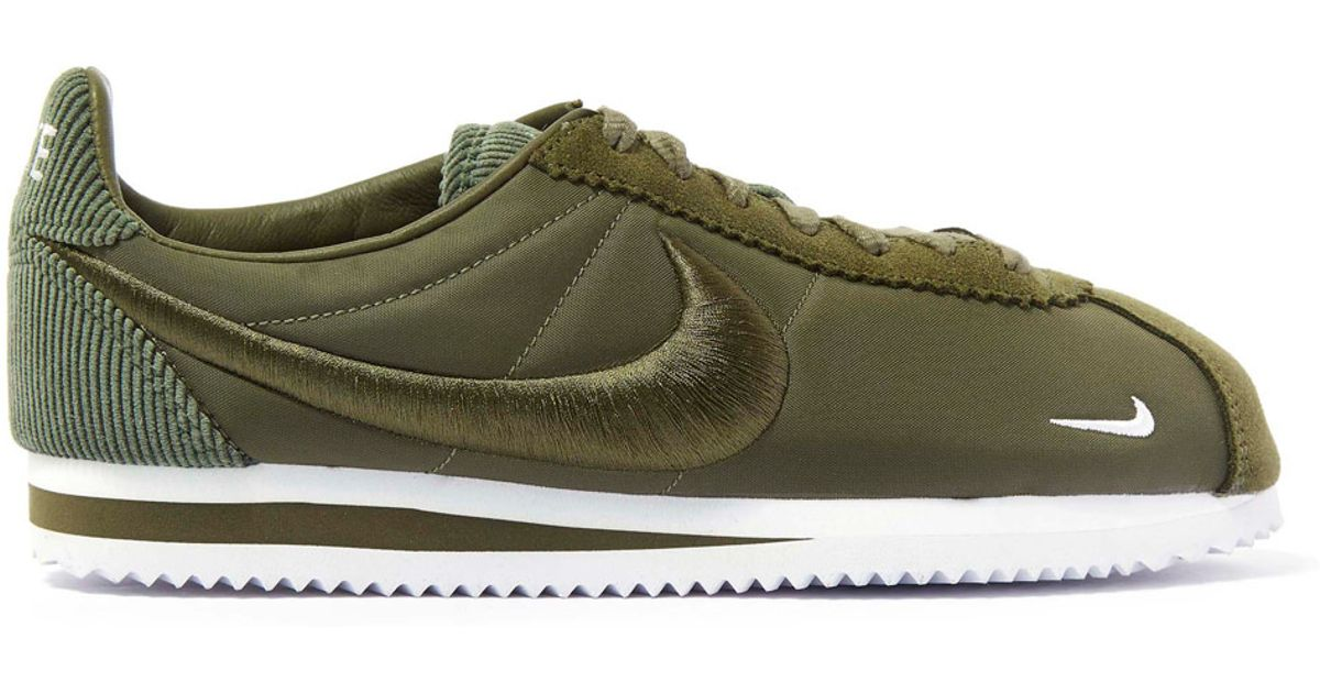 super popular ee2cf d82d3 Nike Olive Classic Cortez Trainers in Green - Lyst