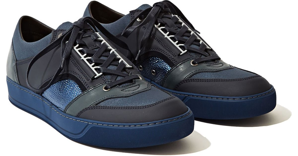 7e0cc92dc5cf Lyst - Lanvin Mens Sneakers Low in Blue for Men