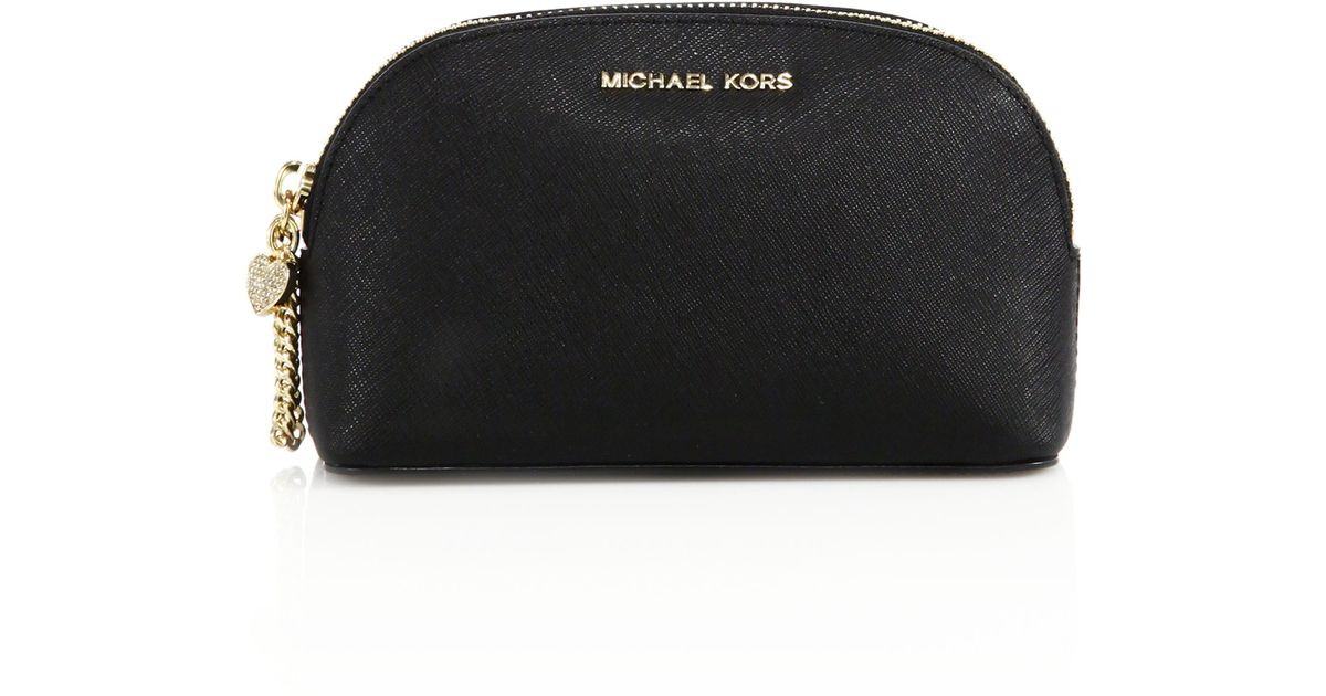 ea671fc8d31554 MICHAEL Michael Kors Alex Medium Saffiano Leather Travel Pouch in Black -  Lyst