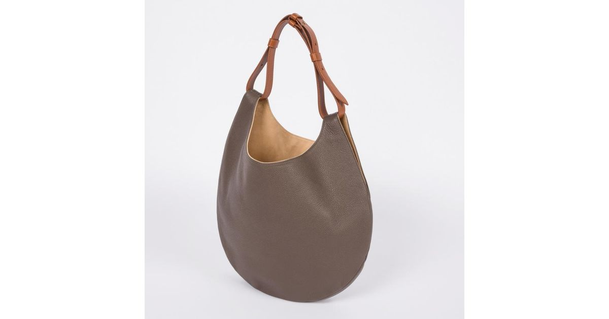 ... Lyst - Paul Smith Womens Grey Leather hobo Bag in Gray new product  f9db3 19ab5 ... e5646ad6e3