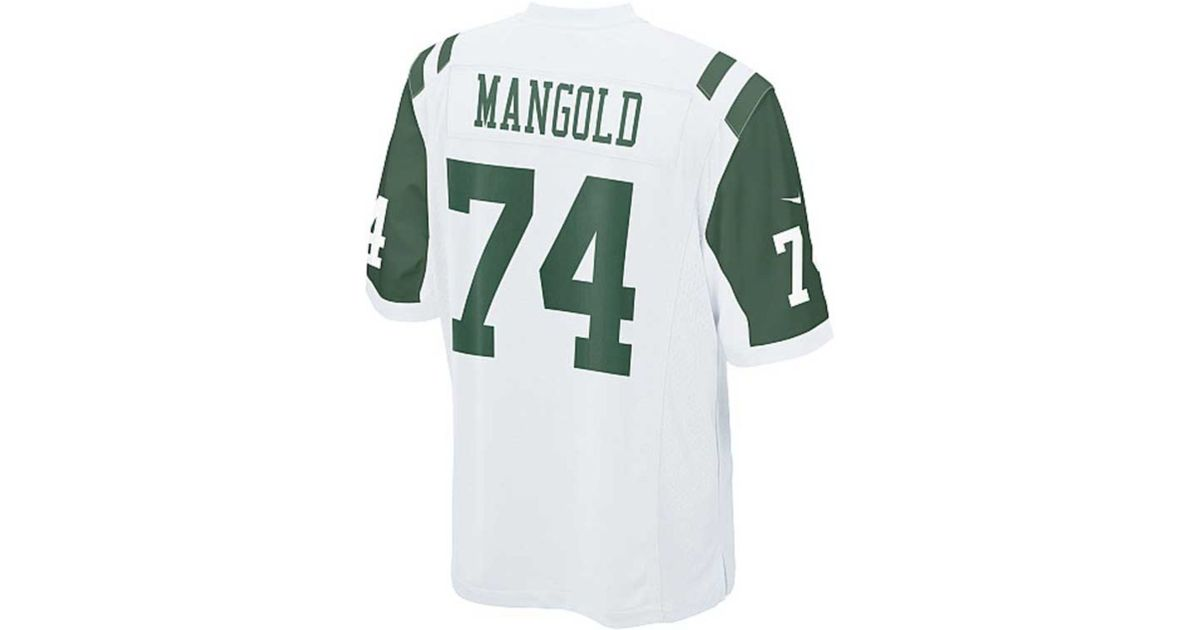 size 40 042b0 113b9 Nike - White Kids' Nick Mangold New York Jets Game Jersey for Men - Lyst