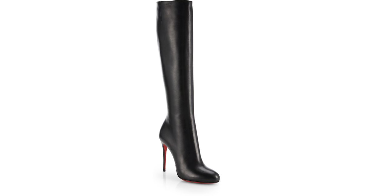 6c1f33db82f7 Lyst - Christian Louboutin Fifi Botta Suede Knee-high Boots in Black