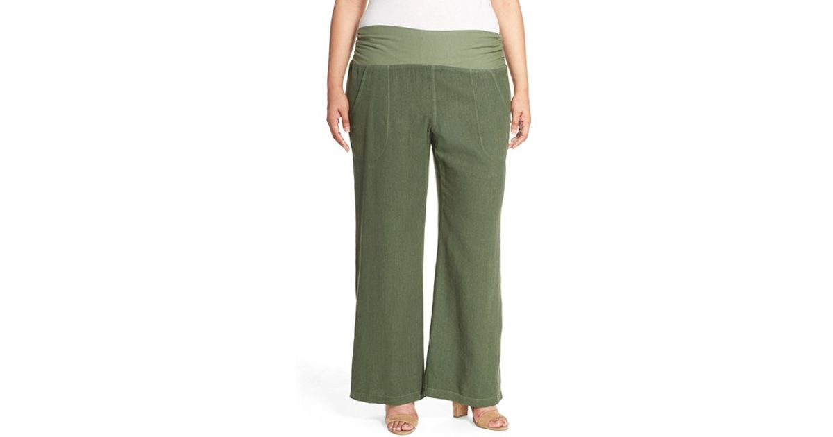 Awesome Enza Costa Linen Wide Leg Pant In White  Lyst
