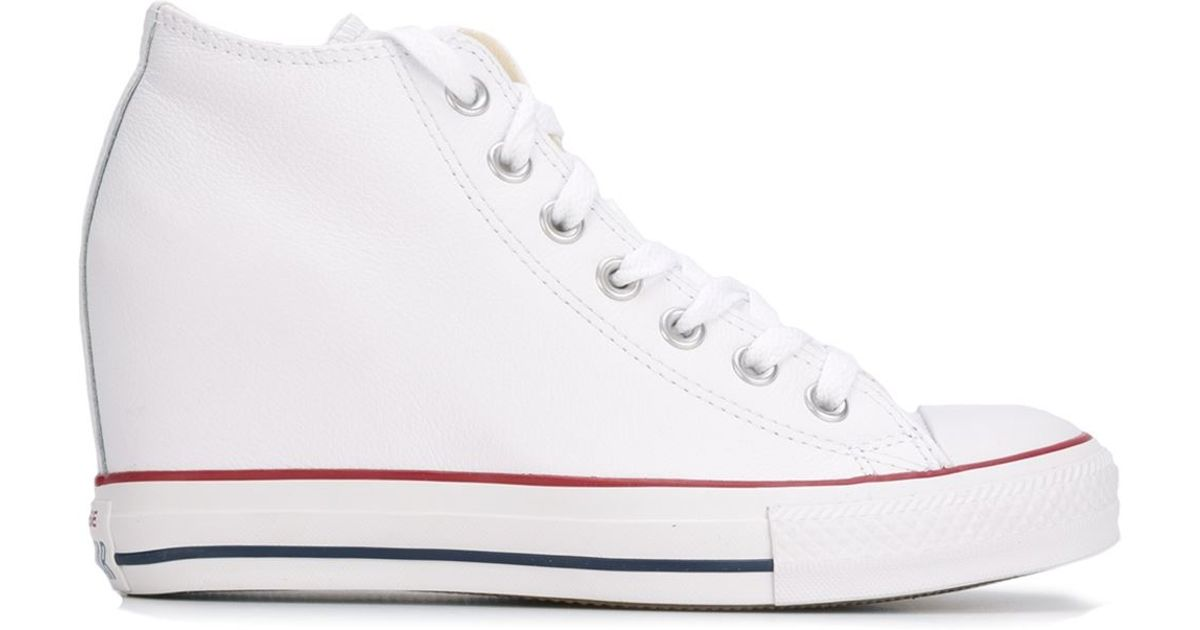 d10081260c076f Lyst - Converse  chuck Taylor All Star Lux Wedge  Sneakers in White