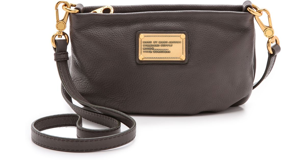 c6d92b8728e4 Lyst - Marc By Marc Jacobs Classic Q Percy Bag - Faded Aluminum in Metallic