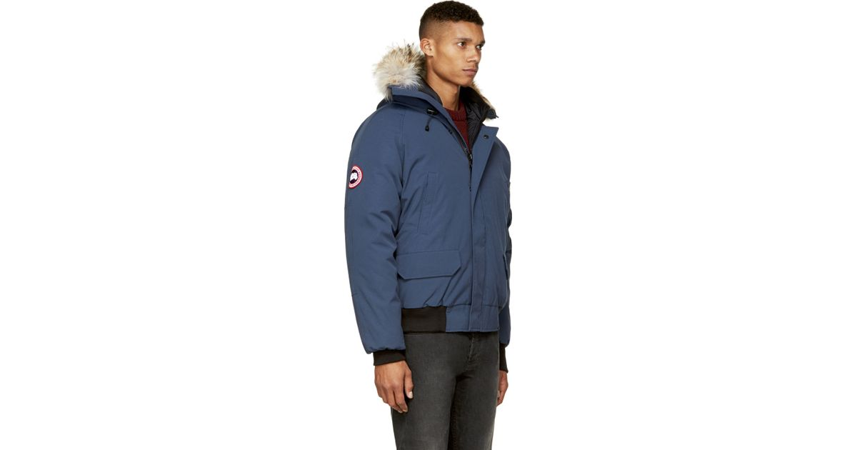 24252a4adf22 Lyst - Canada Goose Navy Chilliwack Bomber Jacket in Blue for Men