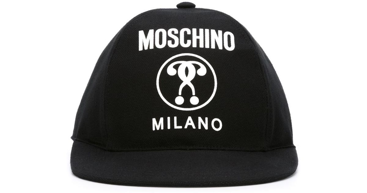 Lyst - Moschino Double Question Mark Cap in Black for Men 2eac858b793