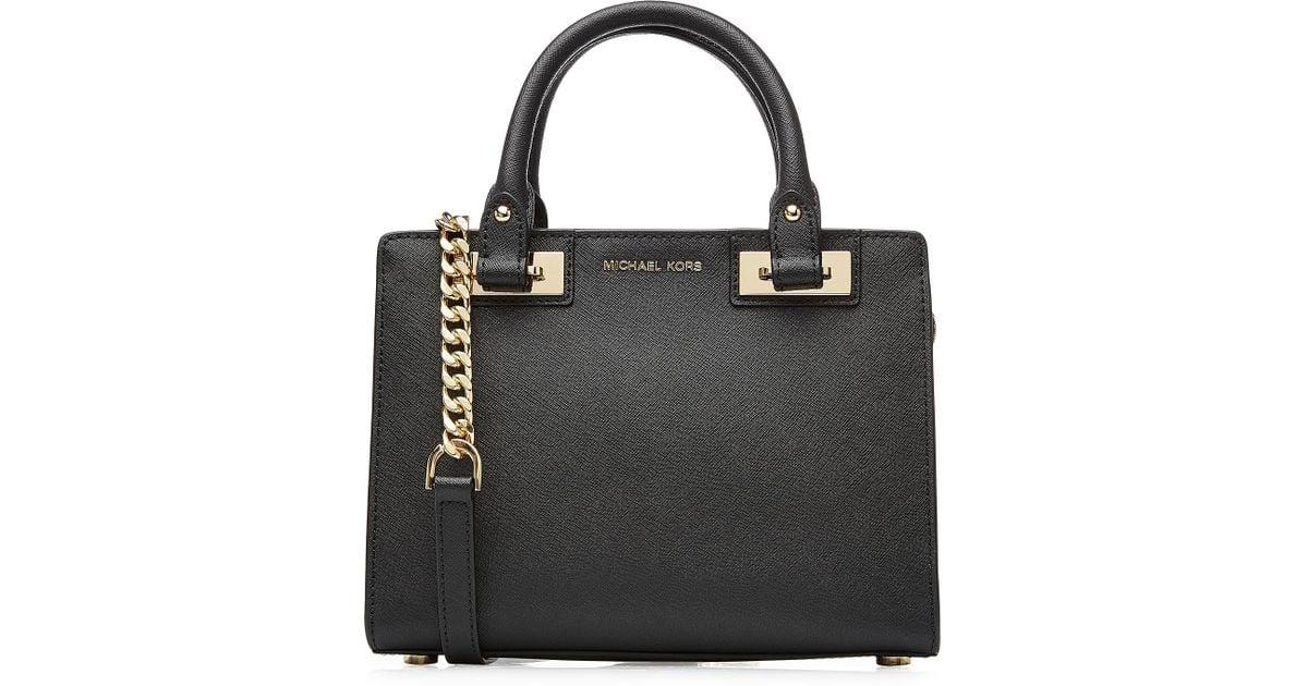 5e274c0a2989 ... release date lyst michael michael kors quinn small leather satchel  black in black ba6c7 6fc44