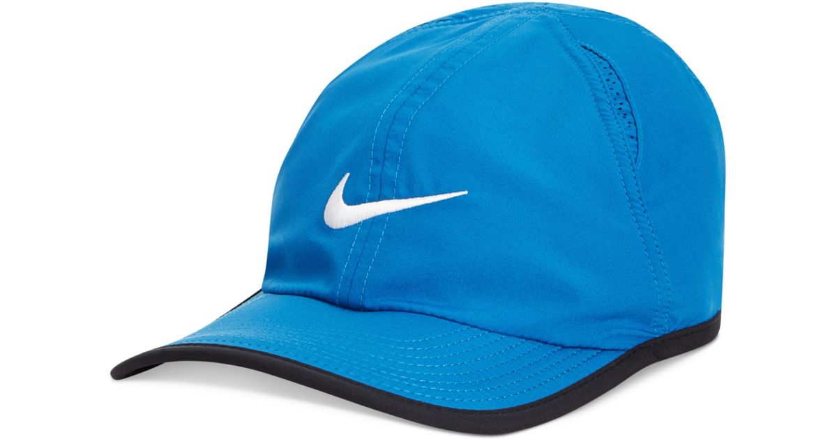 025752bacf172 ... discount code for lyst nike dri fit featherlight performance hat 2.0 in  blue for men 32932