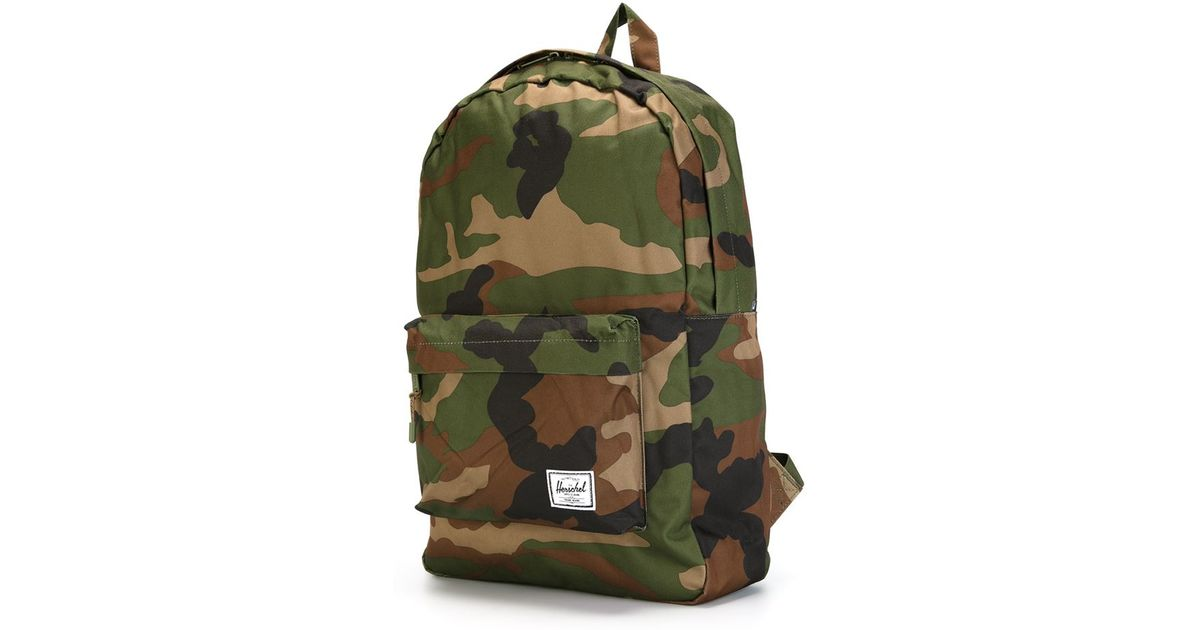 88cf5f680 Lyst - Herschel Supply Co. 'classic' Camouflage Print Backpack in Green for  Men