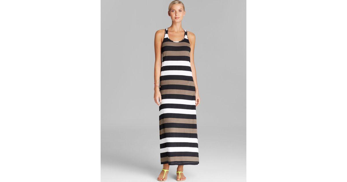 Rugby stripe maxi dresses
