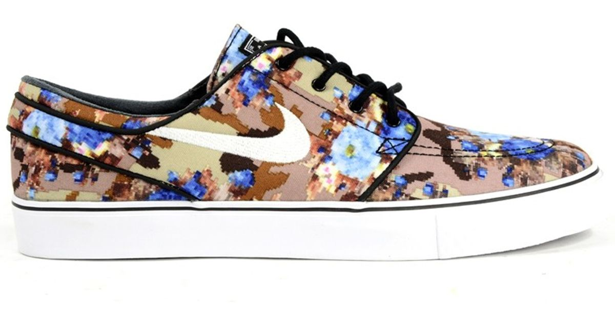 the latest ad51f 35ccc Lyst - Nike Zoom Stefan Janoski Digi Floral Photo Blue in Brown for Men