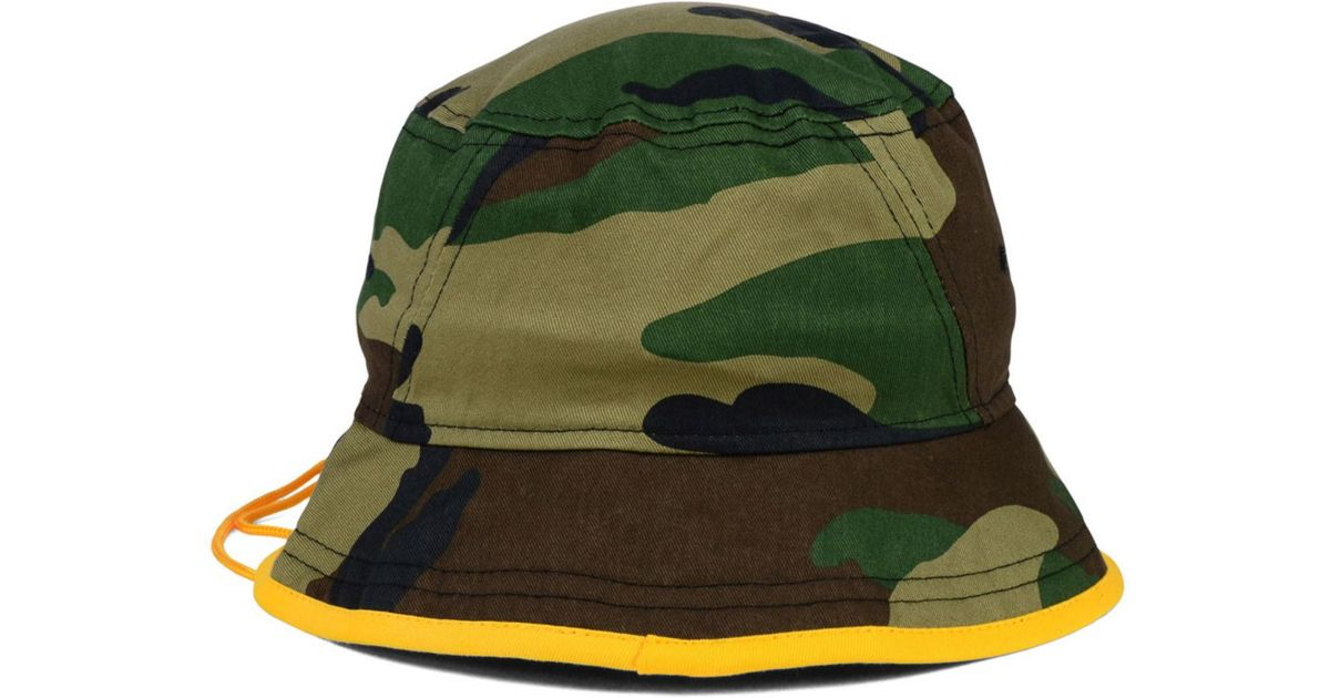 35d665862fef4 ... where can i buy lyst ktz green bay packers camo pop bucket hat in green  for best mens ...