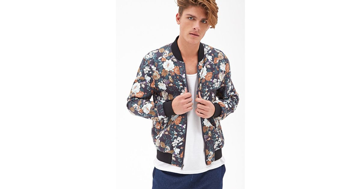 Lyst - Forever 21 Floral Bomber Jacket You've Been Added To The ...