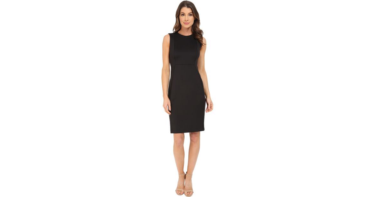 c8d8a8f405e47 Lyst - Calvin Klein Sleeveless Sheath Dress Cd6m1a00 in Black
