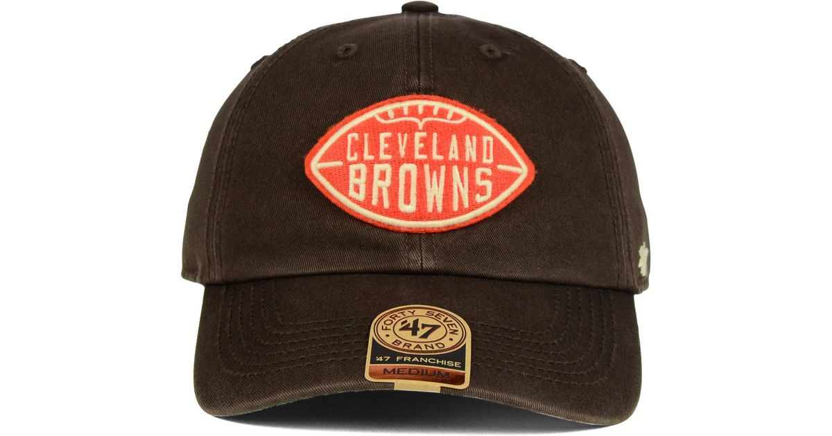26c37853 47 Brand Cleveland Browns Papa Franchise Cap in Brown for Men - Lyst