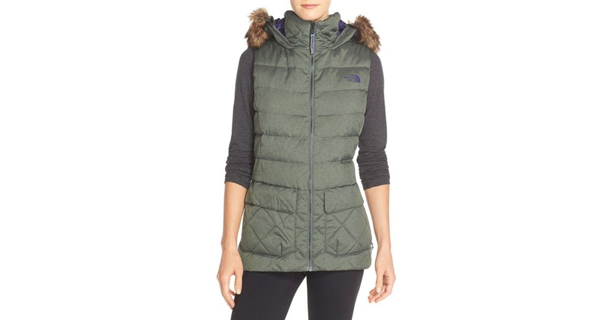 b3c288f2cb ... spain lyst the north face nitchie water resistant vest in green b831f  e1172