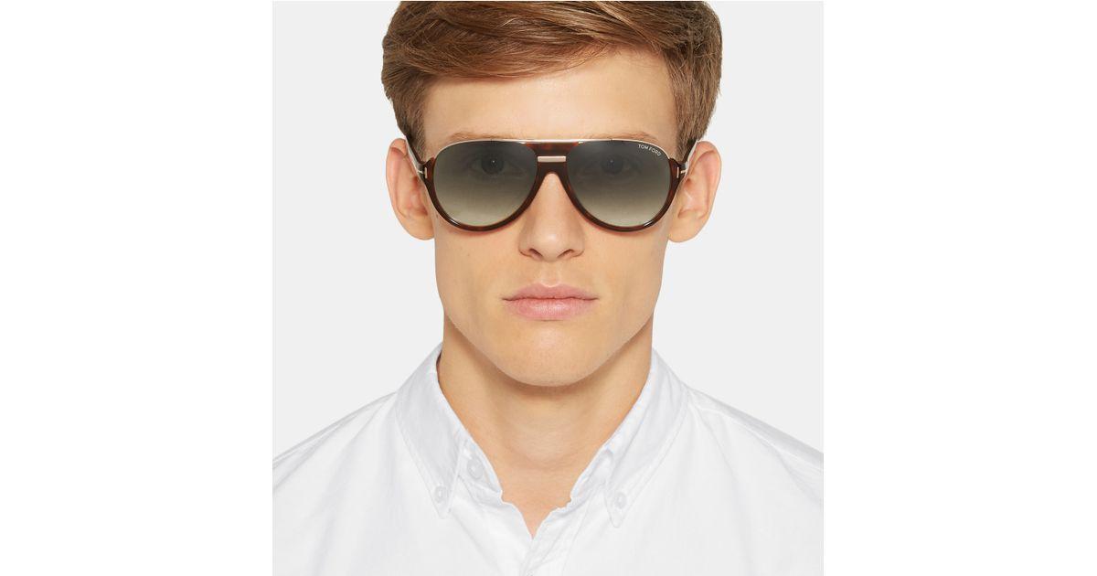 2c77a921c6615 Tom Ford Dimitry D-frame Tortoiseshell Acetate Sunglasses in Brown for Men  - Lyst