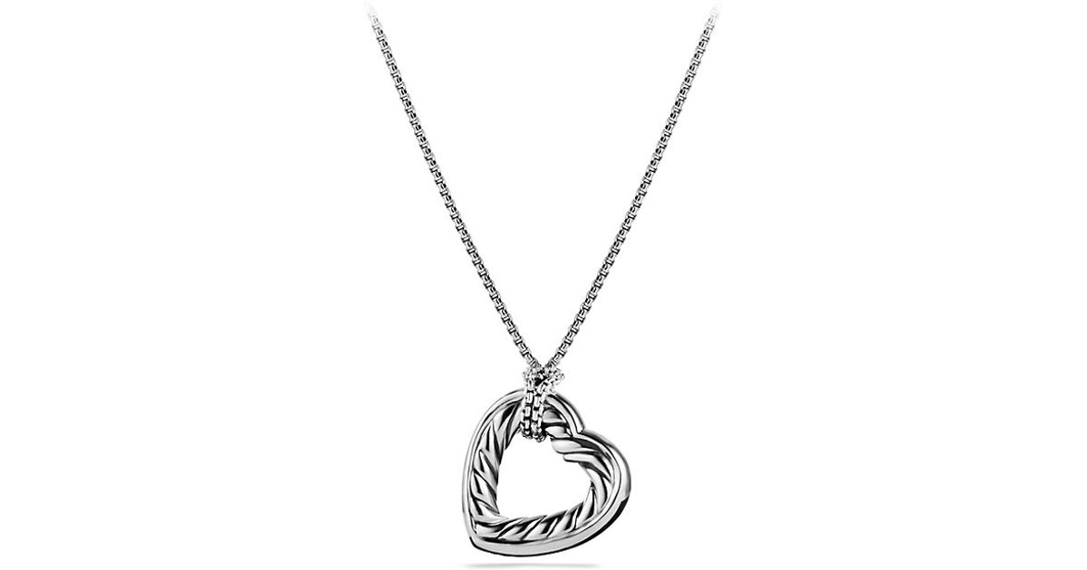 Lyst david yurman cable collectibles large heart pendant necklace lyst david yurman cable collectibles large heart pendant necklace with gold in metallic mozeypictures Gallery