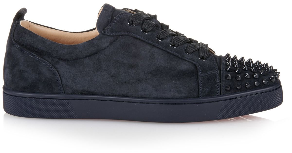 Lyst - Christian Louboutin Louis Suede Low-Top Sneakers in Blue for Men c8ddca07668d