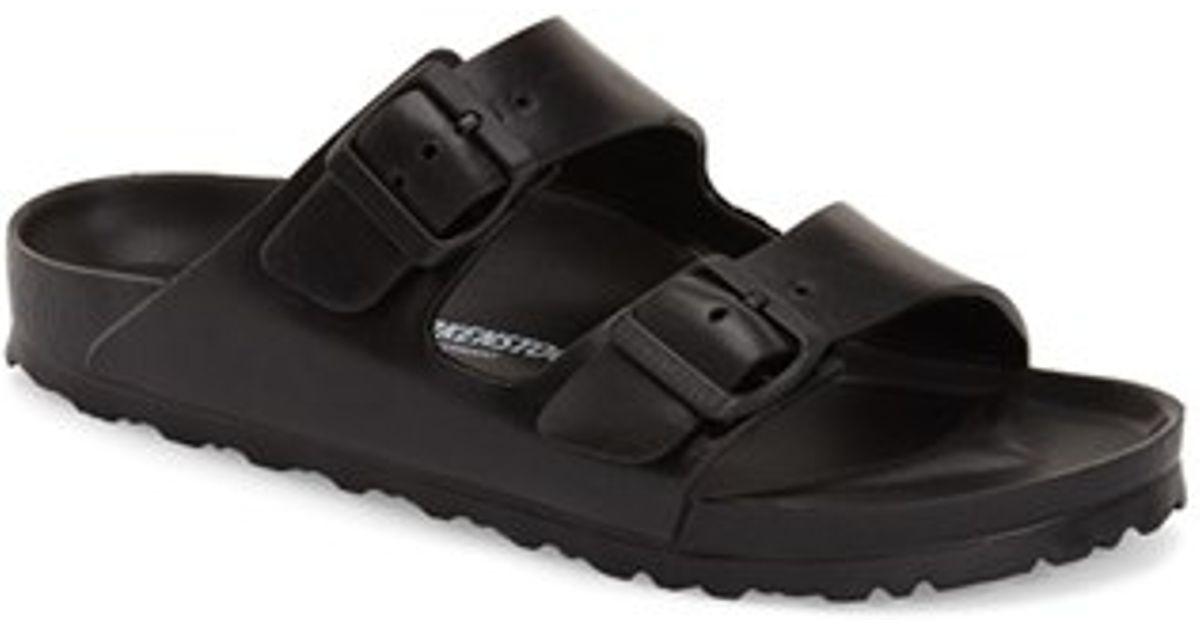 Birkenstock Essentials Arizona Rubber Slides In Black