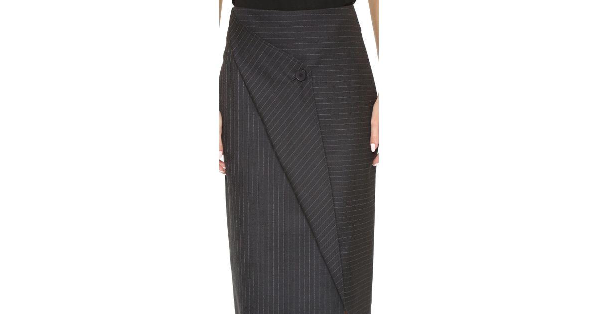 580a1cf7987d3 Lyst - DKNY Asymmetrical Pencil Skirt in Black