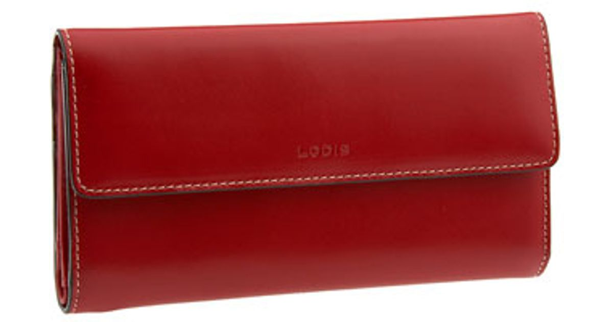 Lodis Audrey Checkbook Clutch Wallet In Red Lyst