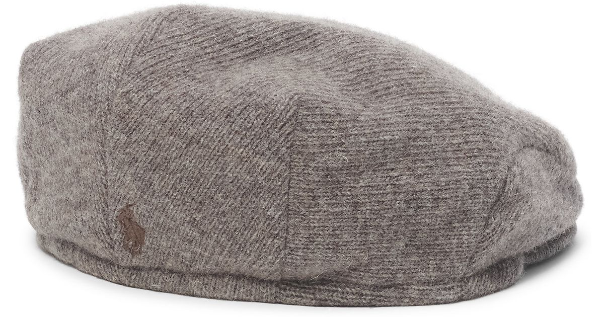 4b5a937b Polo Ralph Lauren Wool-blend Driving Cap in Brown for Men - Lyst