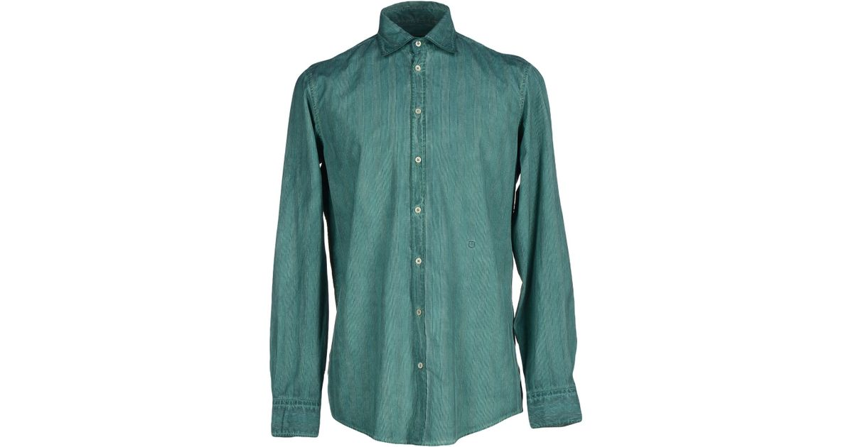 Massimo alba shirt in green for men emerald green save Emerald green mens dress shirt