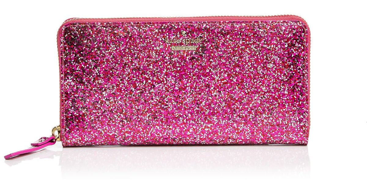 Kate Spade Glitter Bug Lacey Continental Wallet In Red