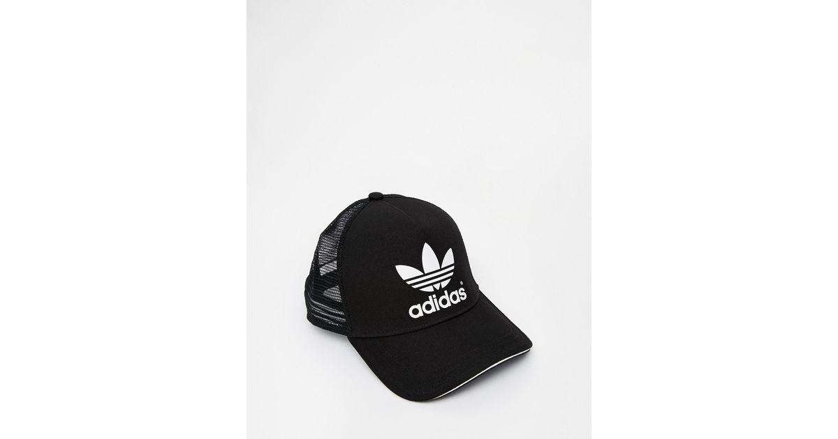 69798f79 adidas Originals Trucker Cap in Black for Men - Lyst
