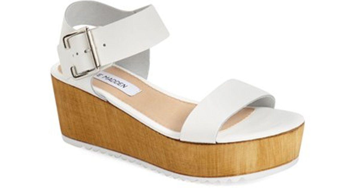 b925c1ce014 Lyst - Steve Madden  nylee  Platform Sandal in White