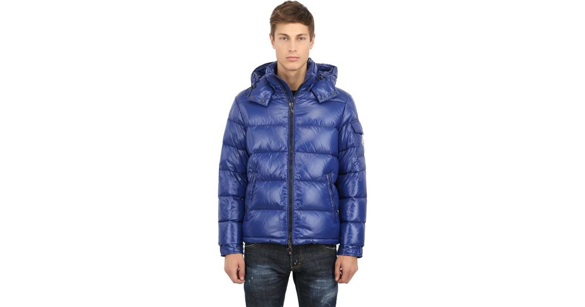 821031b8d Moncler Maya Shiny Nylon Down Jacket in Blue for Men - Lyst
