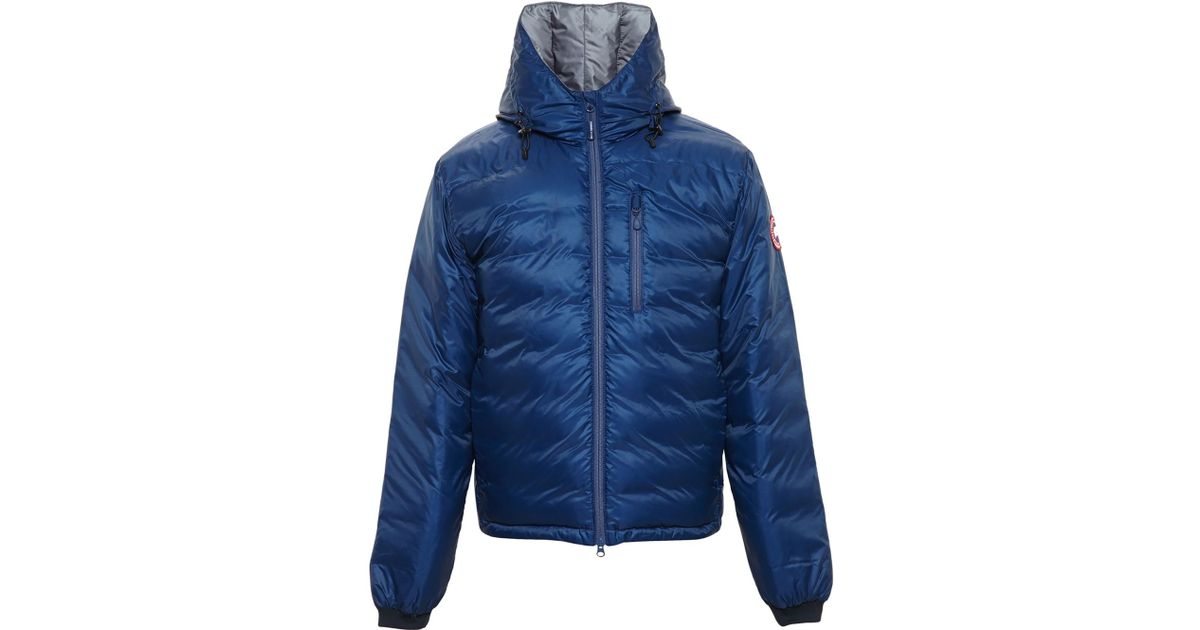 Canada Goose toronto sale 2016 - Canada goose Hooded Lodge Puffa Jacket in Blue for Men | Lyst