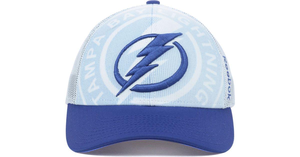 c536c2b54d2 Lyst - Reebok Tampa Bay Lightning Nhl Draft Cap in Blue for Men
