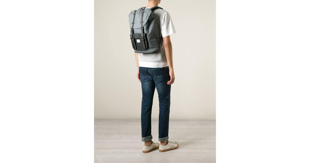 Lyst - Herschel Supply Co.  Little America  Backpack in Gray 295df6531486d