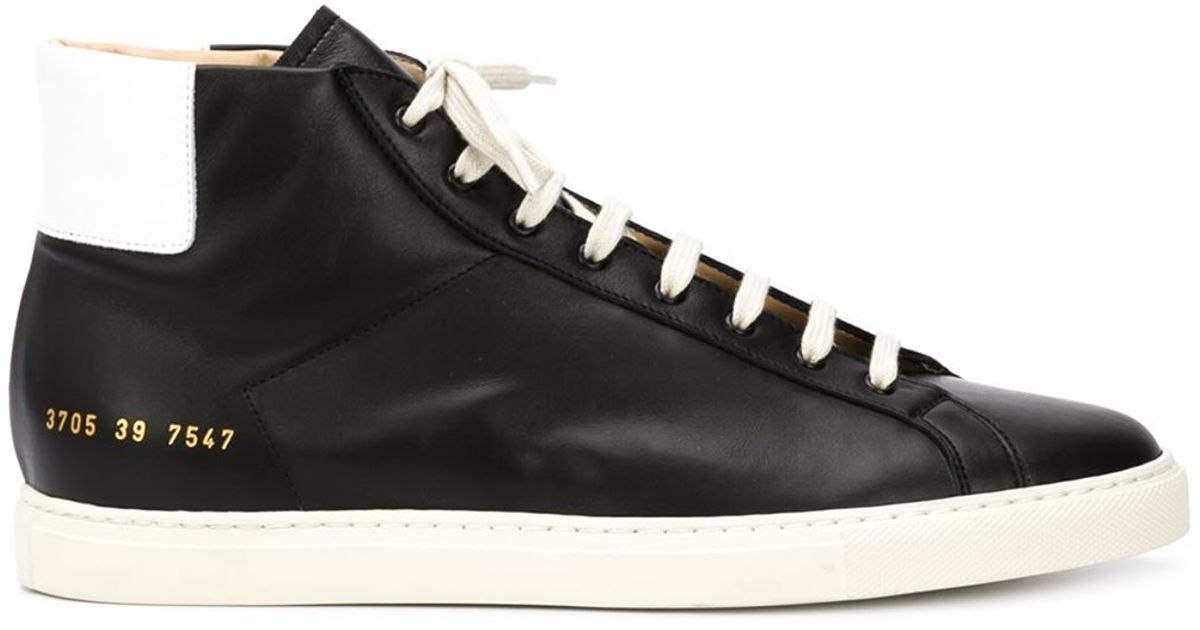 b861039551ab4 Lyst - Common Projects Achilles Retro Leather High-Top Sneakers in Black