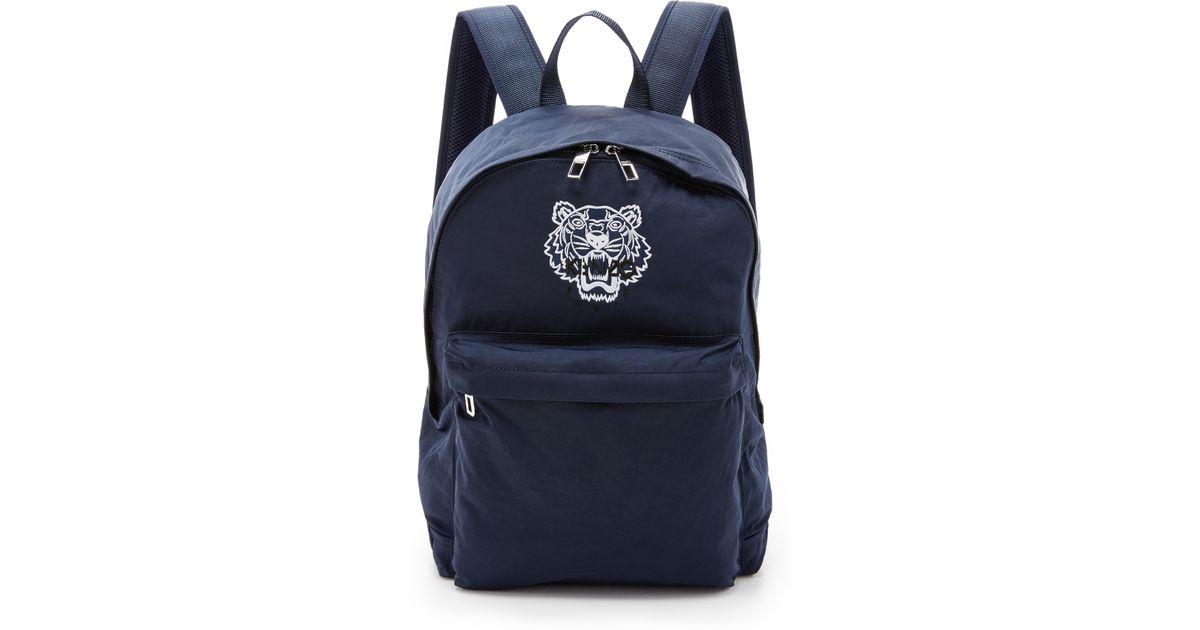 a91ec48532 KENZO Essentials Tiger Backpack in Blue for Men - Lyst