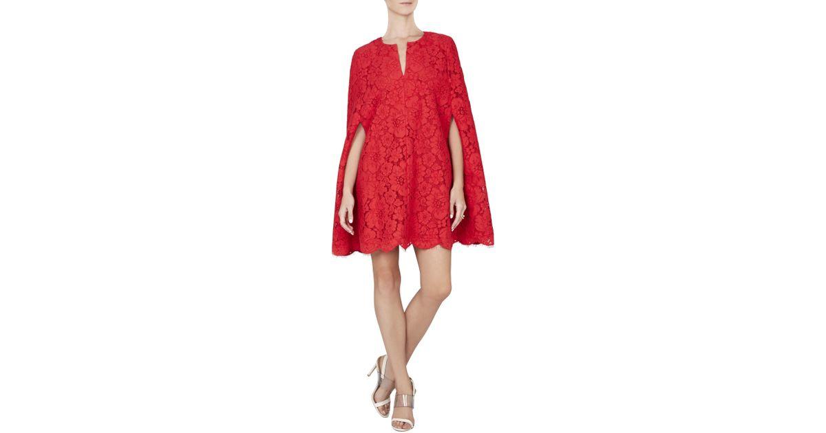 Bcbg brynna lace cape dress bcbg