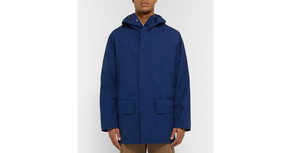 824e085eab352d Margaret howell ventile cotton parka in blue for men lyst jpeg 1200x630 Blue  ventile