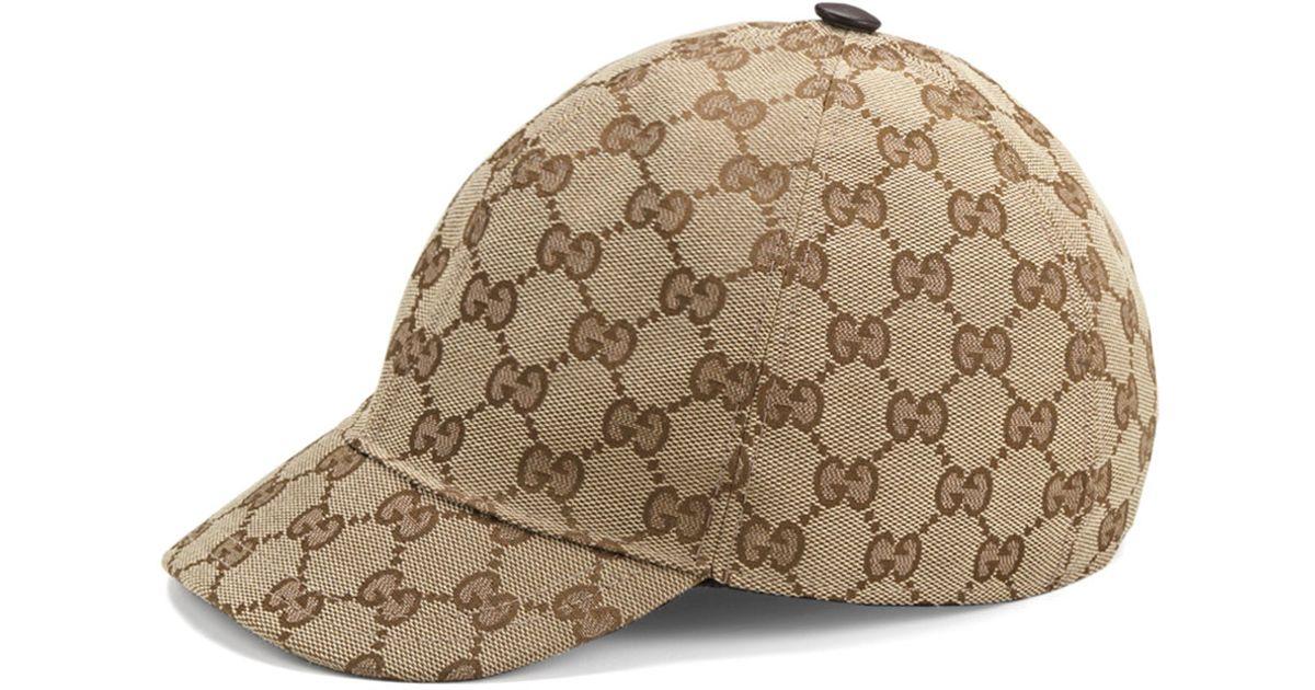 ... Lyst - Gucci Original Gg Jr. Baseball Cap in Natural shop best sellers  80661 7e8c8 ... a198d32e83fb