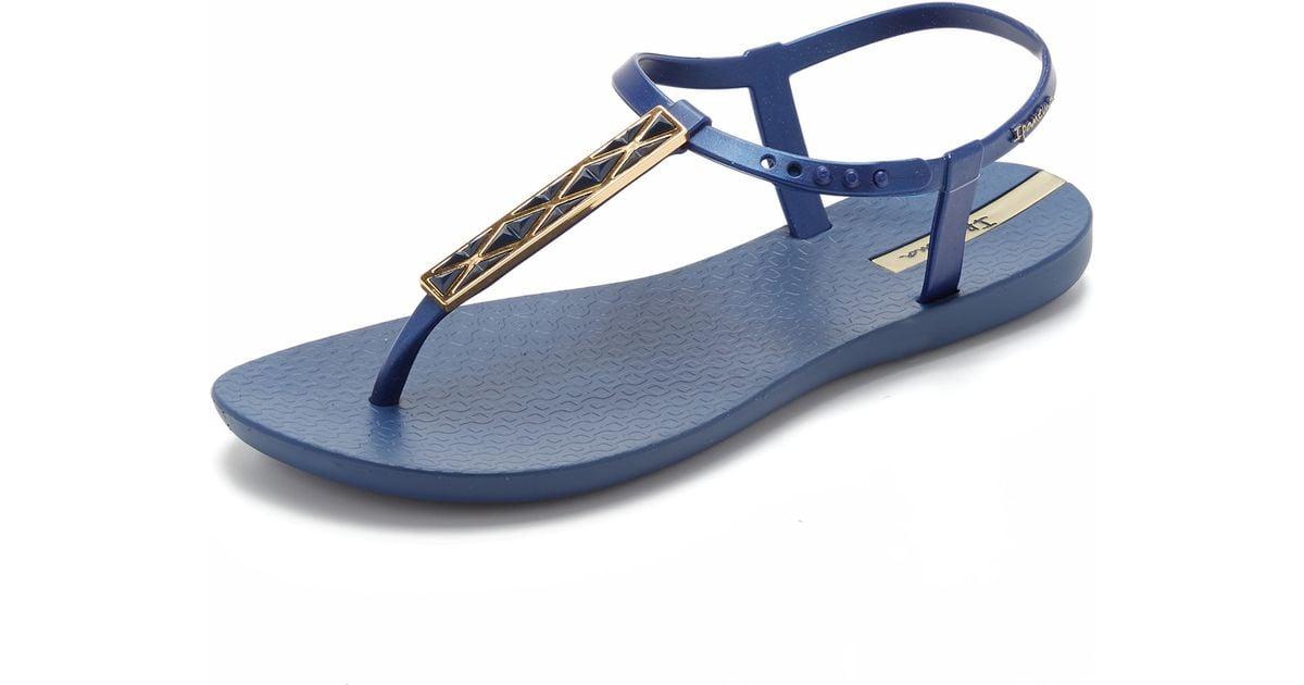 Ipanema Pietra T Strap Sandals In Blue Lyst