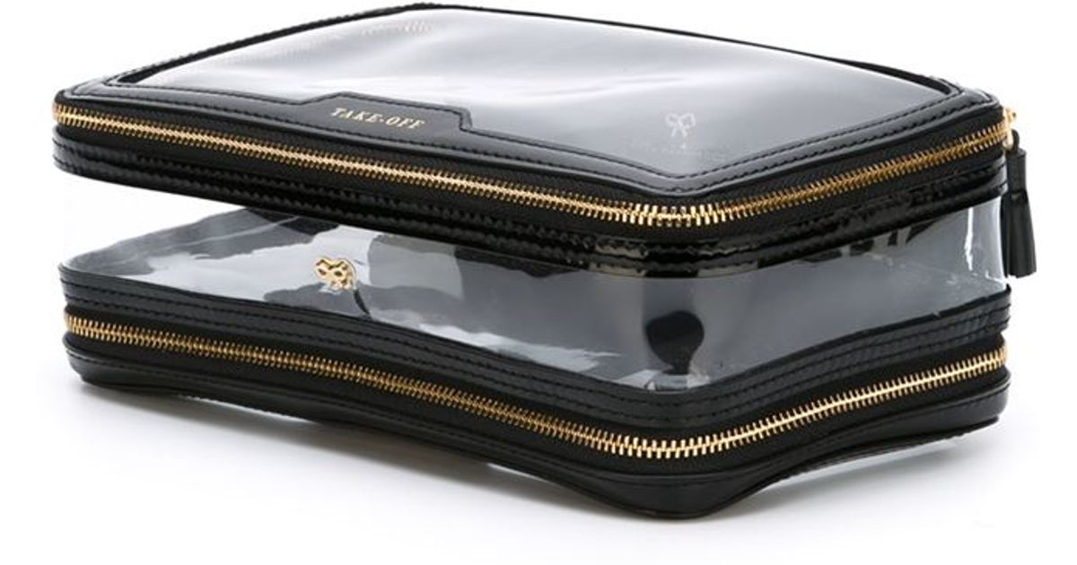 f00360951e Anya Hindmarch 'inflight' Cosmetic Bag in Black - Lyst